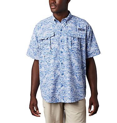 Men's PFG Super Bahama™ Short Sleeve Shirt Super Bahama™ SS Shirt | 342 | XL, Vivid Blue Tuna Time Print, front