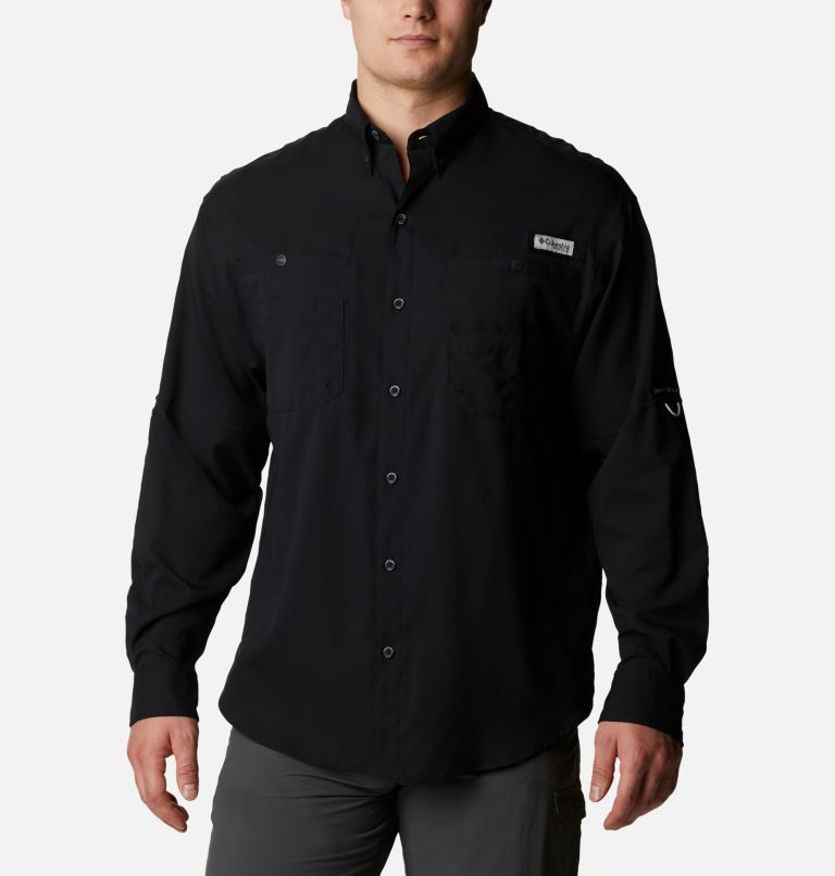 Tamiami™ II LS Shirt | 010 | L Men's PFG Tamiami™ II Long Sleeve Shirt, Black, front