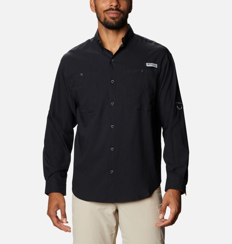 Tamiami™ II LS Shirt | 013 | XXL Men's PFG Tamiami™ II Long Sleeve Shirt, Black, Realtree Edge, front