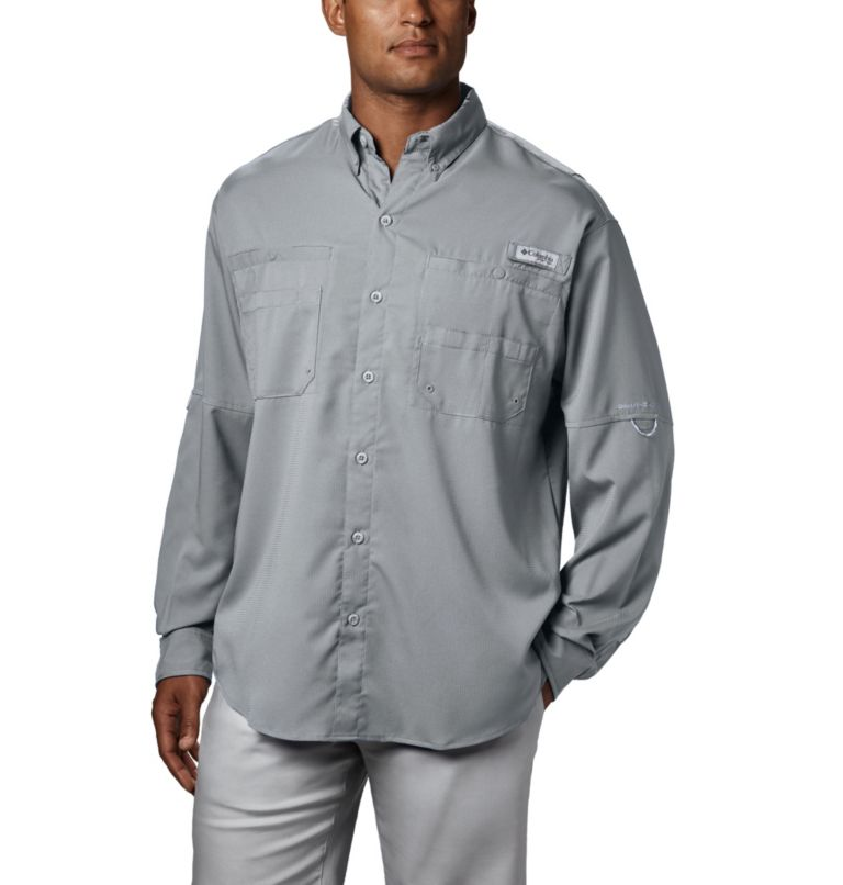 Tamiami™ II LS Shirt | 019 | XXL Men's PFG Tamiami™ II Long Sleeve Shirt, Cool Grey, front