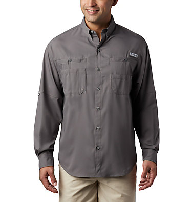 Men's PFG Tamiami™ II Long Sleeve Shirt Tamiami™ II LS Shirt | 341 | L, City Grey, front