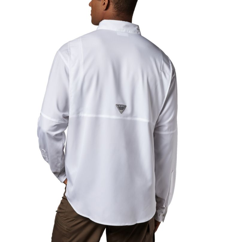 Tamiami™ II LS Shirt | 100 | M Men's PFG Tamiami™ II Long Sleeve Shirt, White, back