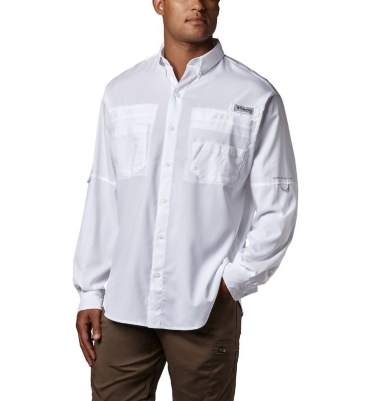 Tamiami™ II LS Shirt   100   S Men's PFG Tamiami™ II Long Sleeve Shirt, White, front