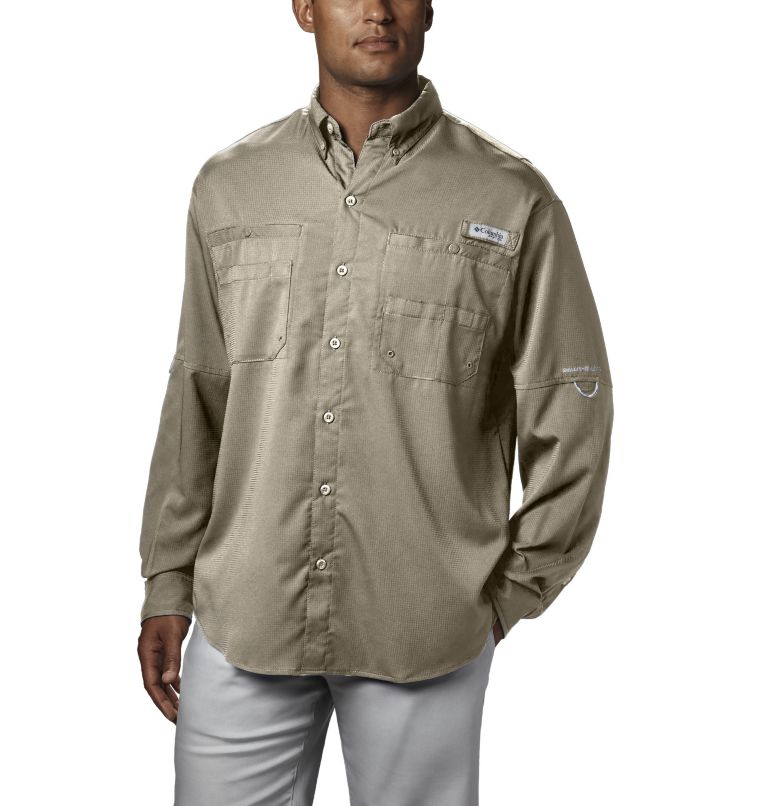 Tamiami™ II LS Shirt | 160 | XL Men's PFG Tamiami™ II Long Sleeve Shirt, Fossil, front