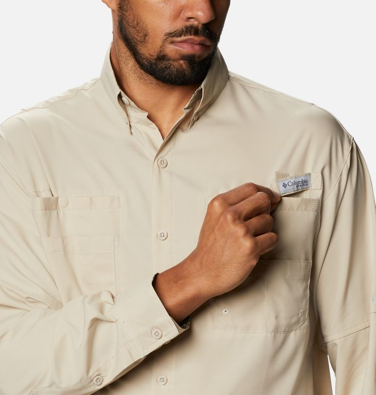 Tamiami™ II LS Shirt | 162 | L Men's PFG Tamiami™ II Long Sleeve Shirt, Fossil, Realtree Edge, a2