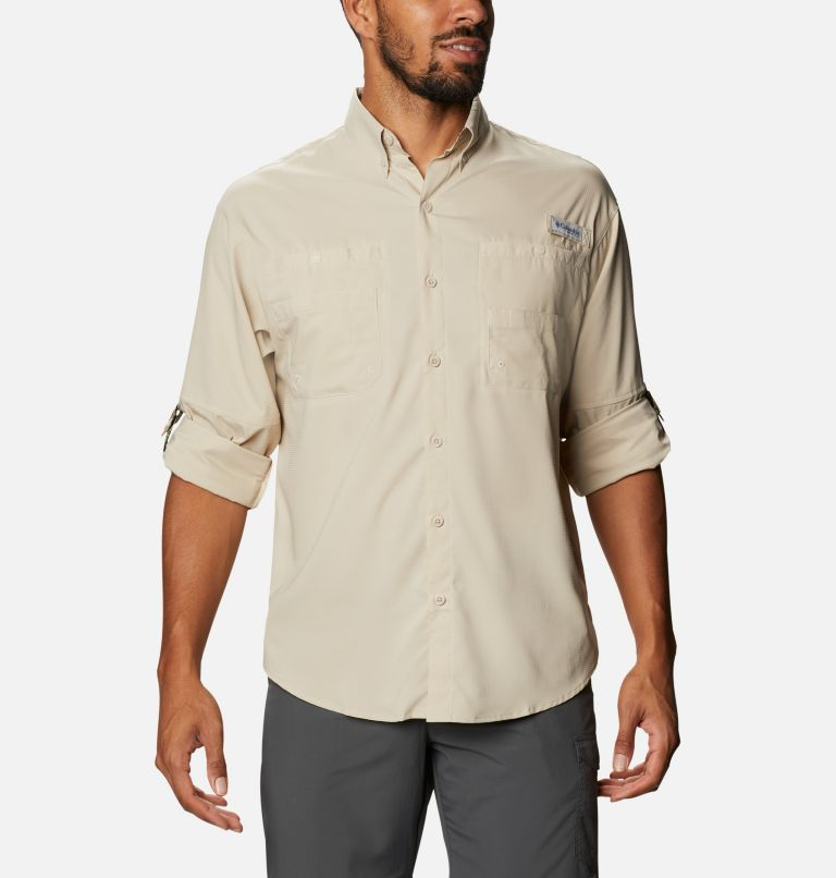 Tamiami™ II LS Shirt | 162 | L Men's PFG Tamiami™ II Long Sleeve Shirt, Fossil, Realtree Edge, a4