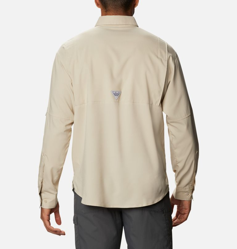 Tamiami™ II LS Shirt | 162 | L Men's PFG Tamiami™ II Long Sleeve Shirt, Fossil, Realtree Edge, back