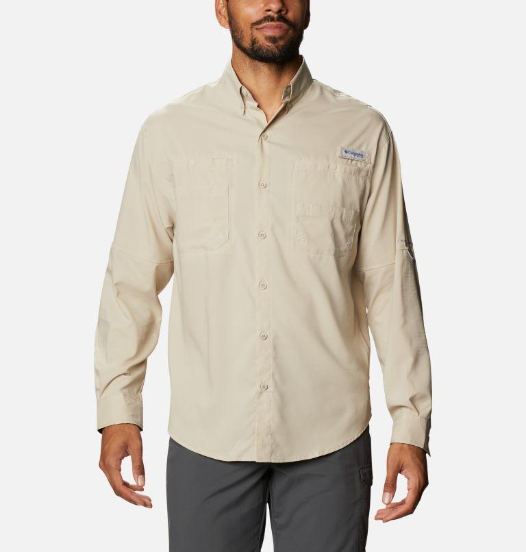 Tamiami™ II LS Shirt | 162 | XXL Men's PFG Tamiami™ II Long Sleeve Shirt, Fossil, Realtree Edge, front