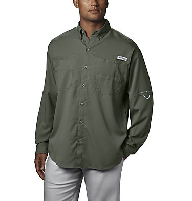 Men's PFG Tamiami™ II Long Sleeve Shirt Tamiami™ II LS Shirt | 479 | L, Cypress, front
