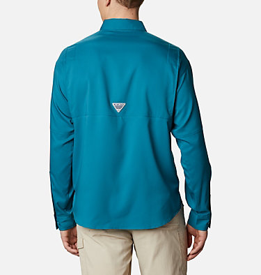 Men's PFG Tamiami™ II Long Sleeve Shirt Tamiami™ II LS Shirt | 479 | L, Aegean Blue, back