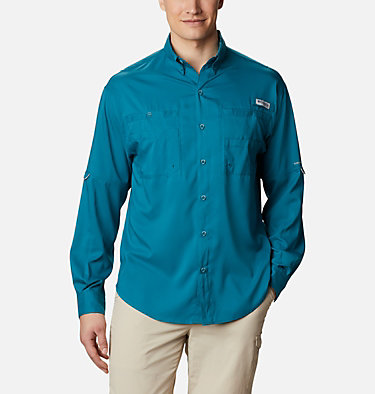 Men's PFG Tamiami™ II Long Sleeve Shirt Tamiami™ II LS Shirt | 479 | L, Aegean Blue, front