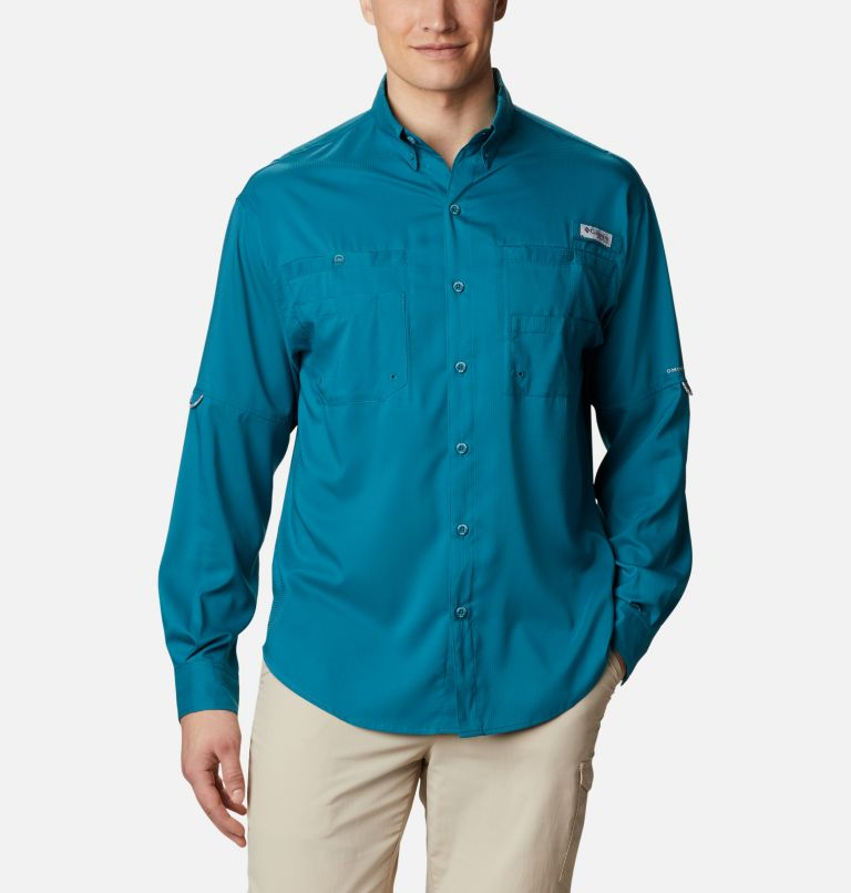 Tamiami™ II LS Shirt | 340 | M Men's PFG Tamiami™ II Long Sleeve Shirt, Aegean Blue, front