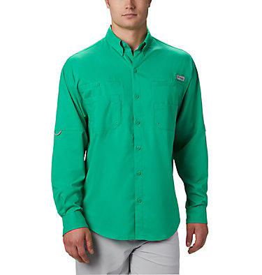 Men's PFG Tamiami™ II Long Sleeve Shirt Tamiami™ II LS Shirt | 440 | L, Dark Lime, front
