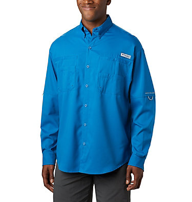 Men's PFG Tamiami™ II Long Sleeve Shirt Tamiami™ II LS Shirt | 479 | L, Dark Pool, front