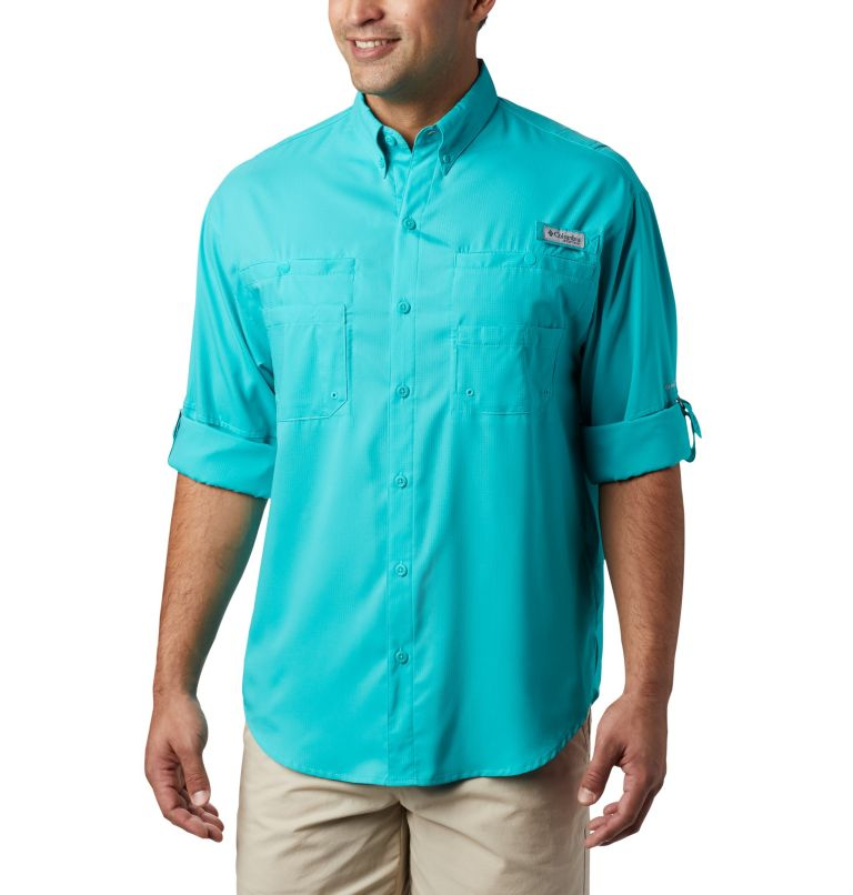 Tamiami™ II LS Shirt | 457 | XL Men's PFG Tamiami™ II Long Sleeve Shirt, Bright Aqua, a4