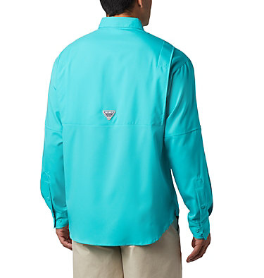 Men's PFG Tamiami™ II Long Sleeve Shirt Tamiami™ II LS Shirt | 479 | L, Bright Aqua, back