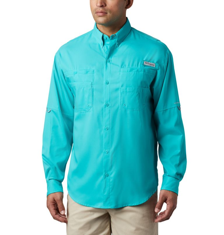 Tamiami™ II LS Shirt | 457 | XL Men's PFG Tamiami™ II Long Sleeve Shirt, Bright Aqua, front