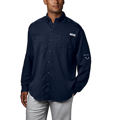 Men's PFG Tamiami™ II Long Sleeve Shirt Tamiami™ II LS Shirt | 479 | L, Collegiate Navy, front