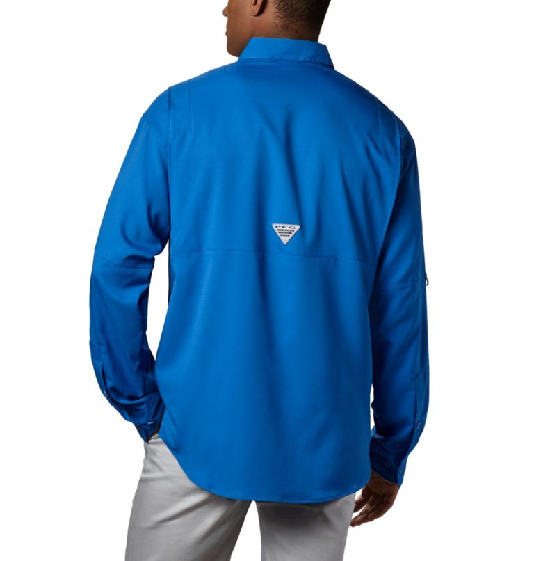 Tamiami™ II LS Shirt | 487 | XXL Men's PFG Tamiami™ II Long Sleeve Shirt, Vivid Blue, back