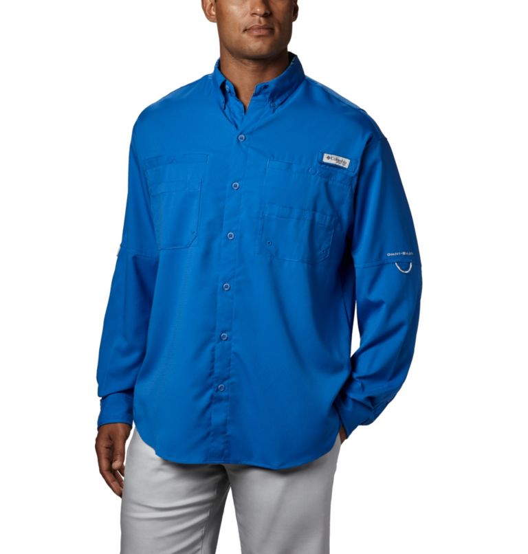 Tamiami™ II LS Shirt | 487 | XXL Men's PFG Tamiami™ II Long Sleeve Shirt, Vivid Blue, front