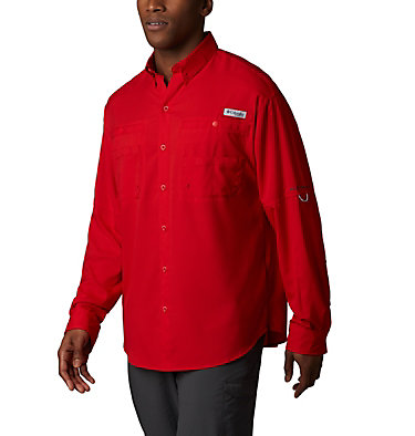 Men's PFG Tamiami™ II Long Sleeve Shirt Tamiami™ II LS Shirt | 479 | L, Red Spark, front