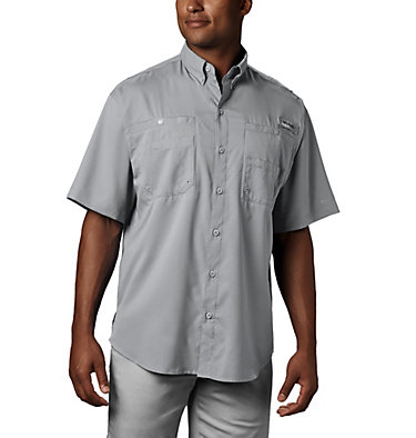 Men's PFG Tamiami™ II Short Sleeve Shirt Tamiami™ II SS Shirt | 479 | L, Cool Grey, front