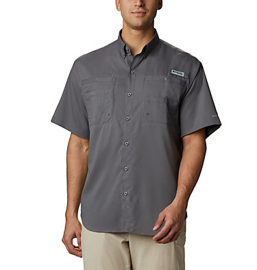 Men's PFG Tamiami™ II Short Sleeve Shirt Tamiami™ II SS Shirt | 341 | XS, City Grey, front