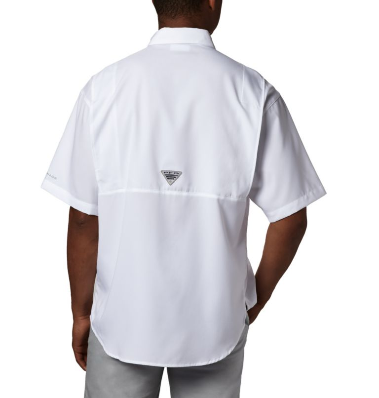 Tamiami™ II SS Shirt | 100 | S Men's PFG Tamiami™ II Short Sleeve Shirt, White, back
