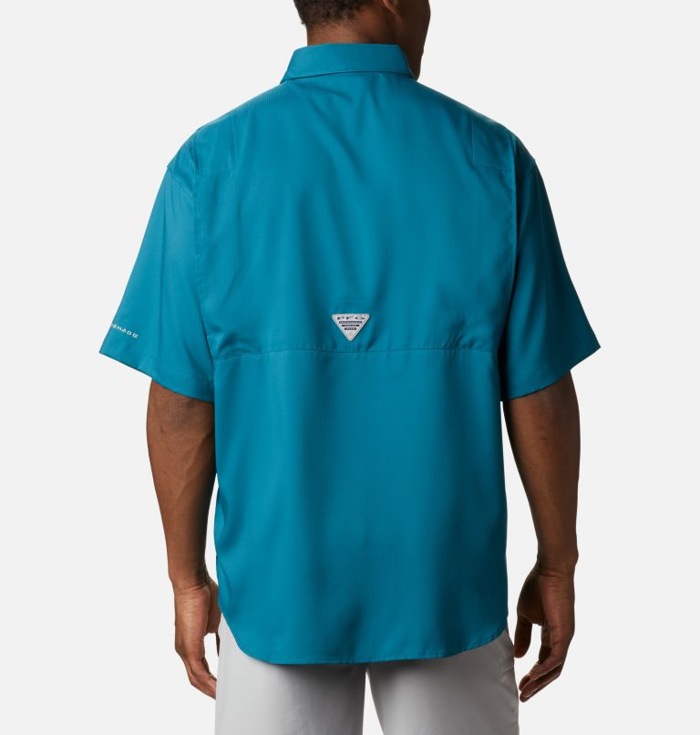 Tamiami™ II SS Shirt | 340 | XS Men's PFG Tamiami™ II Short Sleeve Shirt, Aegean Blue, back