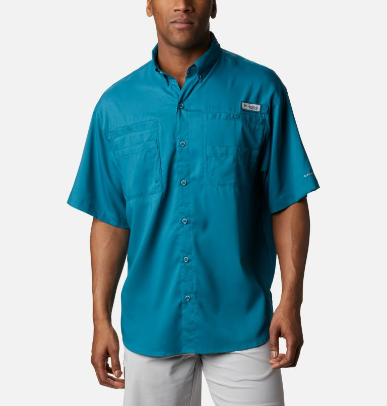 Tamiami™ II SS Shirt | 340 | XL Men's PFG Tamiami™ II Short Sleeve Shirt, Aegean Blue, front