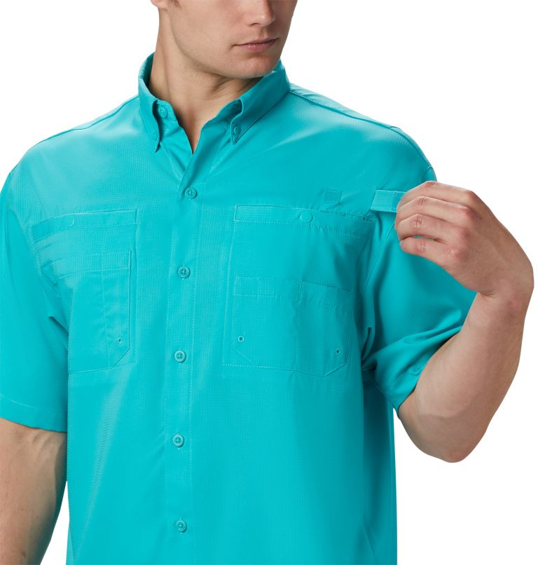 Tamiami™ II SS Shirt | 455 | L Men's PFG Tamiami™ II Short Sleeve Shirt, Bright Aqua, a1