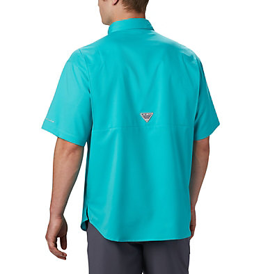 Men's PFG Tamiami™ II Short Sleeve Shirt Tamiami™ II SS Shirt | 479 | L, Bright Aqua, back