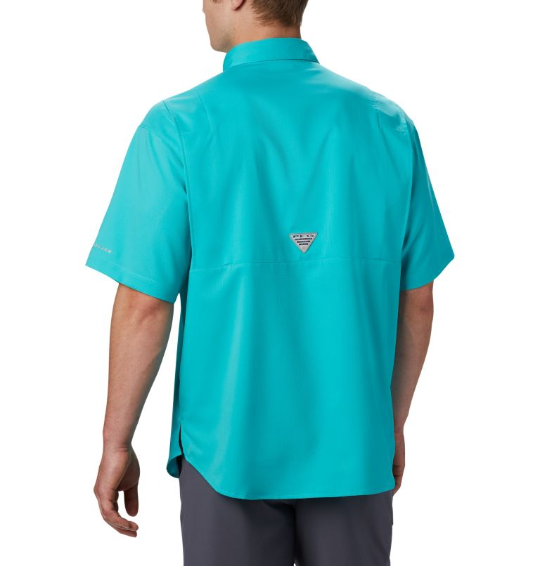 Tamiami™ II SS Shirt | 455 | L Men's PFG Tamiami™ II Short Sleeve Shirt, Bright Aqua, back