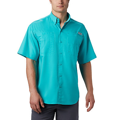 Men's PFG Tamiami™ II Short Sleeve Shirt Tamiami™ II SS Shirt | 479 | L, Bright Aqua, front