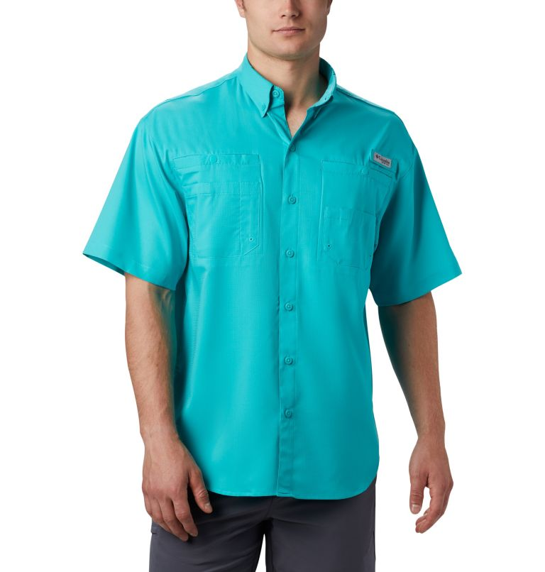 Tamiami™ II SS Shirt | 455 | L Men's PFG Tamiami™ II Short Sleeve Shirt, Bright Aqua, front