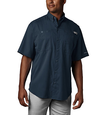 Men's PFG Tamiami™ II Short Sleeve Shirt Tamiami™ II SS Shirt | 479 | L, Collegiate Navy, front