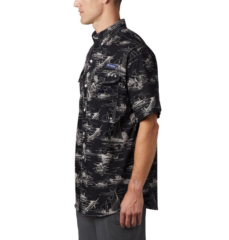 Super Bonehead Classic™ SS Shirt | 013 | XL Men's PFG Super Bonehead Classic™ Short Sleeve Shirt, Black Angler Toile Print, a1