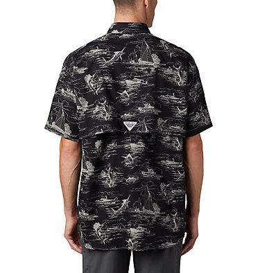 Men's PFG Super Bonehead Classic™ Short Sleeve Shirt Super Bonehead Classic™ SS Shirt | 514 | XXL, Black Angler Toile Print, back