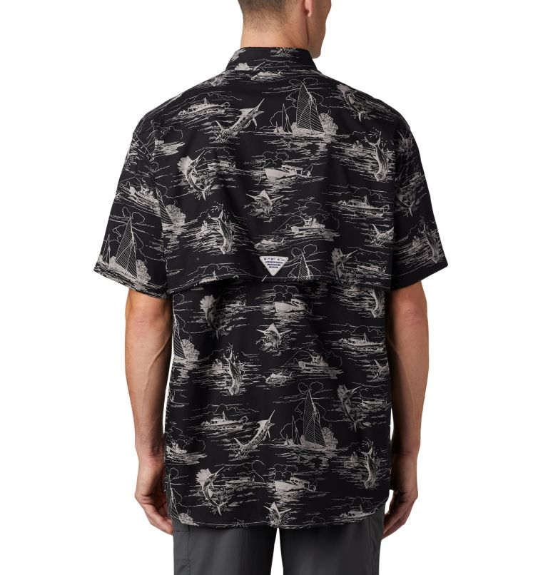 Super Bonehead Classic™ SS Shirt | 013 | XL Men's PFG Super Bonehead Classic™ Short Sleeve Shirt, Black Angler Toile Print, back