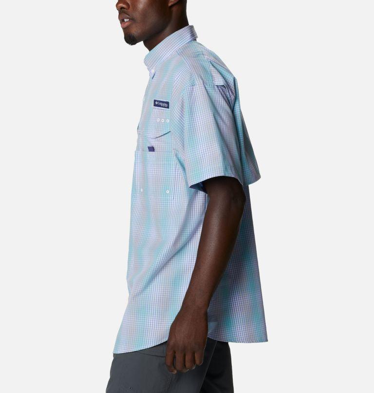 Super Bonehead Classic™ SS Shirt | 368 | XL Men's PFG Super Bonehead Classic™ Short Sleeve Shirt, Mint Cay Ombre Gingham, a1
