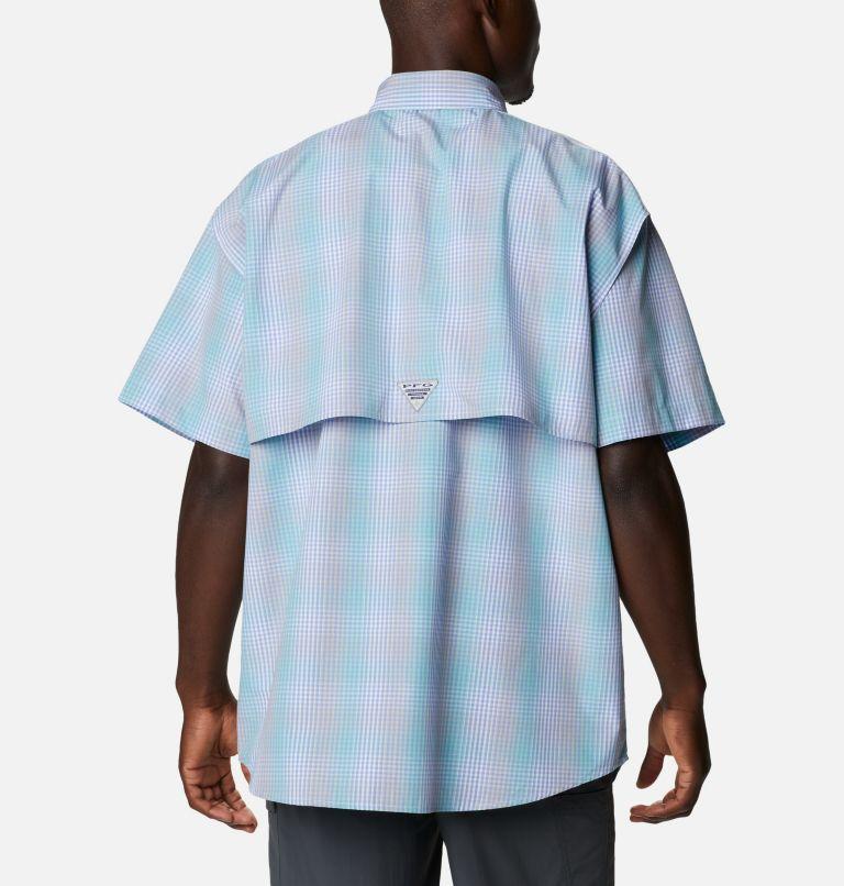Super Bonehead Classic™ SS Shirt | 368 | XL Men's PFG Super Bonehead Classic™ Short Sleeve Shirt, Mint Cay Ombre Gingham, back