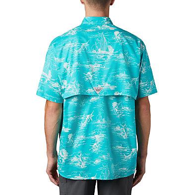Men's PFG Super Bonehead Classic™ Short Sleeve Shirt Super Bonehead Classic™ SS Shirt | 514 | XXL, Bright Aqua Angler Toile Print, back