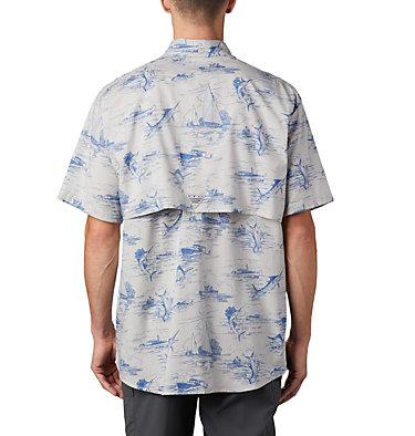 Men's PFG Super Bonehead Classic™ Short Sleeve Shirt Super Bonehead Classic™ SS Shirt | 514 | XXL, Vivid Blue Angler Toile Print, back