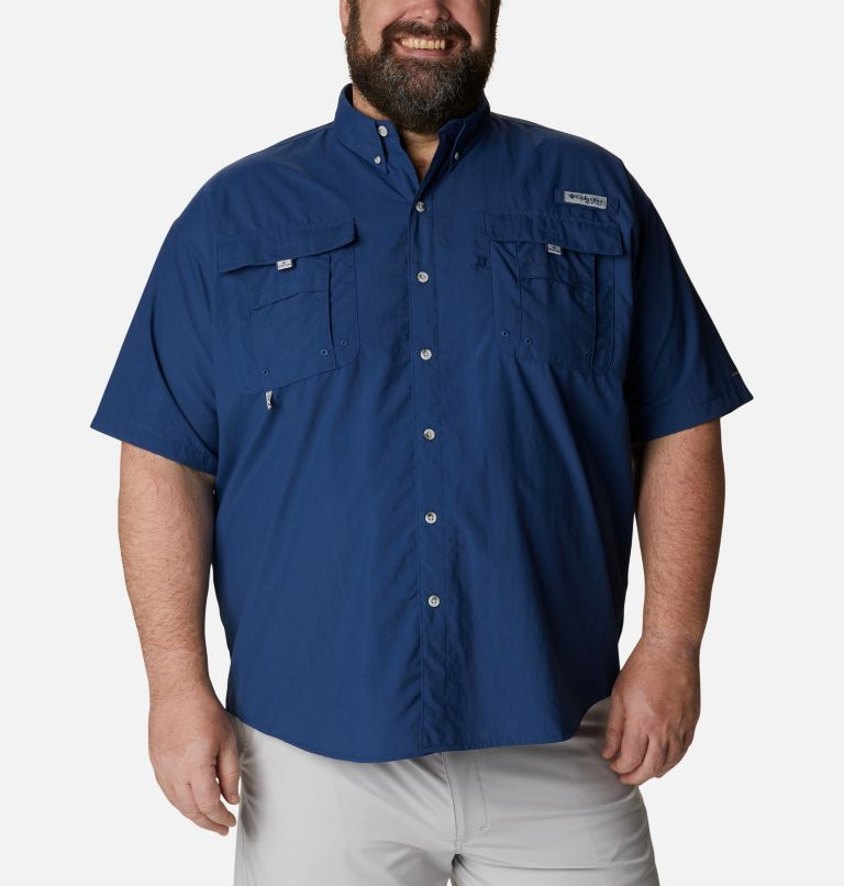 Bahama™ II S/S Shirt | 469 | 3X Men's PFG Bahama™ II Short Sleeve Shirt - Big, Carbon, front
