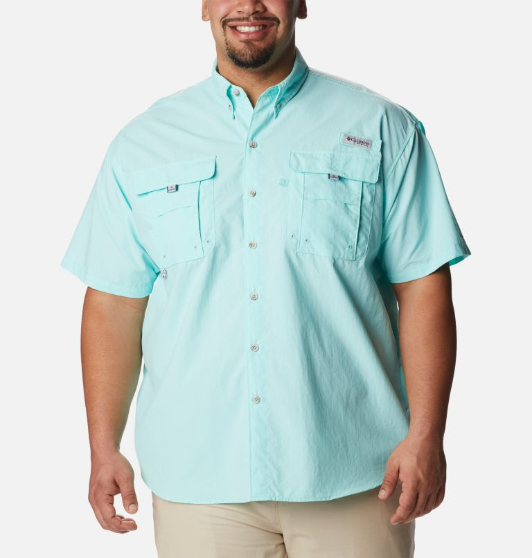 Bahama™ II S/S Shirt | 499 | 3X Men's PFG Bahama™ II Short Sleeve Shirt - Big, Gulf Stream, front