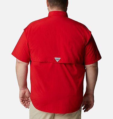 Men's PFG Bahama™ II Short Sleeve Shirt - Big Bahama™ II S/S Shirt | 480 | 4X, Red Spark, back