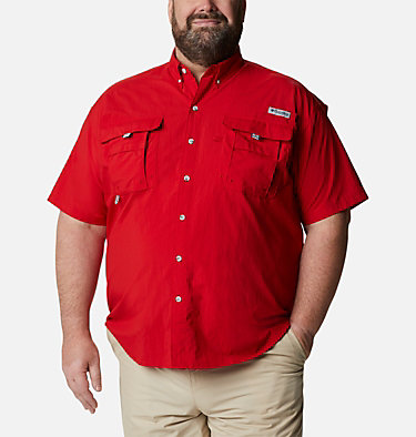 Men's PFG Bahama™ II Short Sleeve Shirt - Big Bahama™ II S/S Shirt | 480 | 4X, Red Spark, front