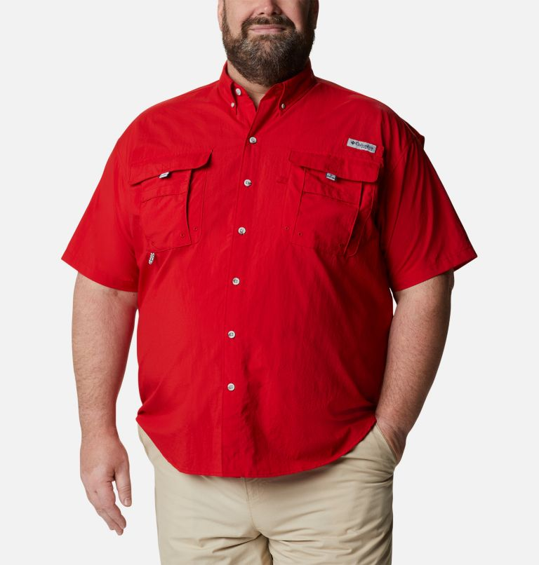 Bahama™ II S/S Shirt | 696 | 3X Men's PFG Bahama™ II Short Sleeve Shirt - Big, Red Spark, front