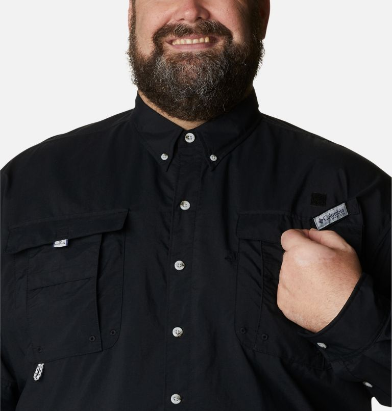 Bahama™ II L/S Shirt | 010 | 5X Men's PFG Bahama™ II Long Sleeve Shirt - Big, Black, a2
