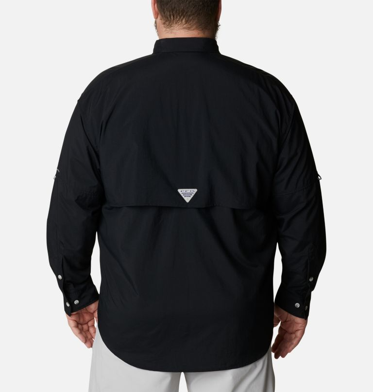 Bahama™ II L/S Shirt | 010 | 4X Men's PFG Bahama™ II Long Sleeve Shirt - Big, Black, back